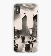 Vinilo o funda para iPhone Vintage Photograph of The NYC Flat Iron Building 2