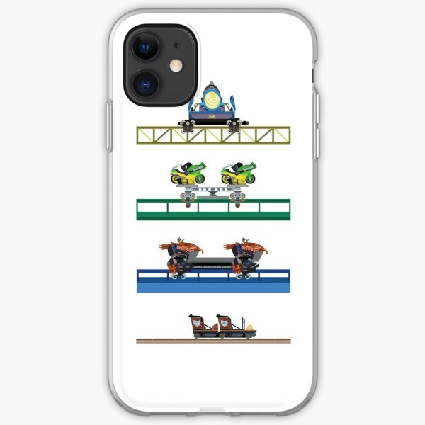 Toverland Coaster Cars Design iPhone Soft Case