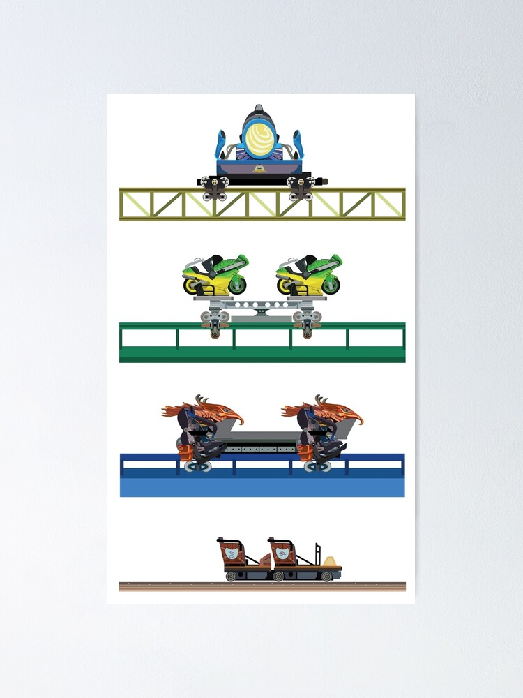 Alternate view of Toverland Coaster Cars Design Poster