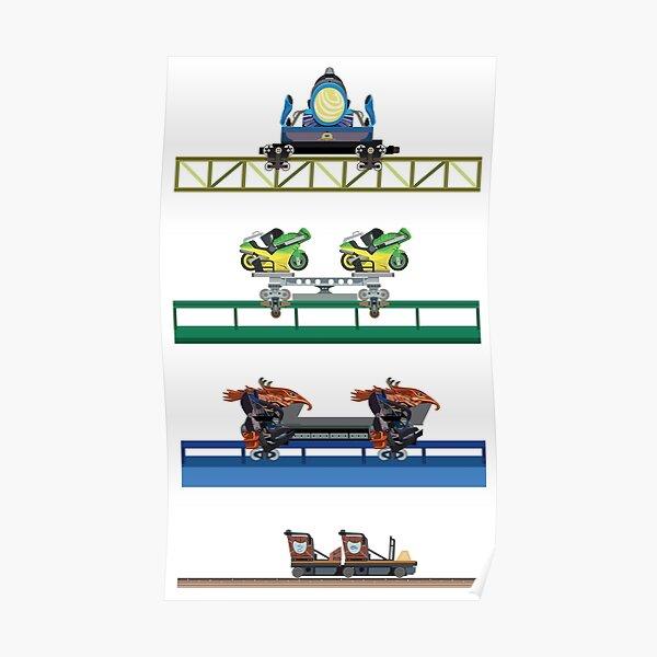 Toverland Coaster Cars Design Poster