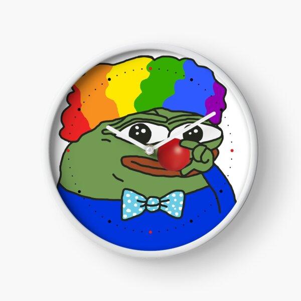Honk Honk Clown World PepeTheFrog red nose Apu Apustaja the Kekistan Wall Eyed Pepe the Frog #HonkHonk Apu Apustaja the Kekistan Pepe the Frog HD HIGH QUALITY ONLINE STORE Clock