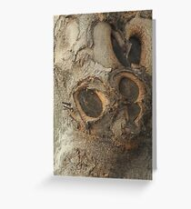 Sculpture in Wood, Barcelona Greeting Card