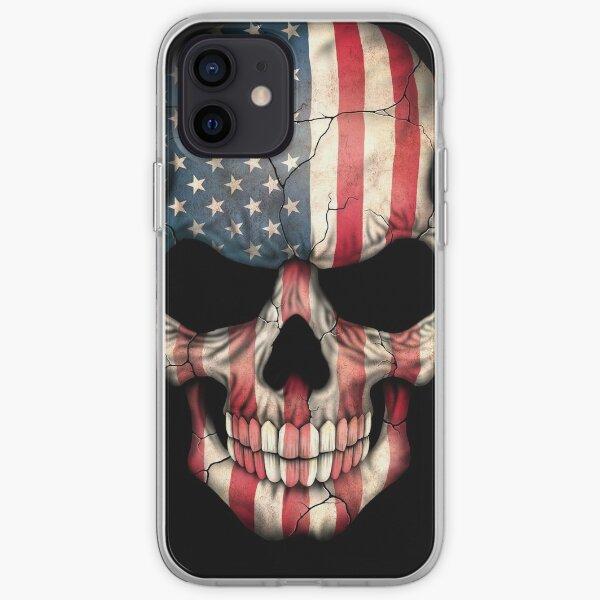 American Flag Skull iPhone Soft Case