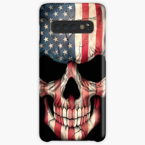 American Flag Skull Samsung Galaxy Snap Case