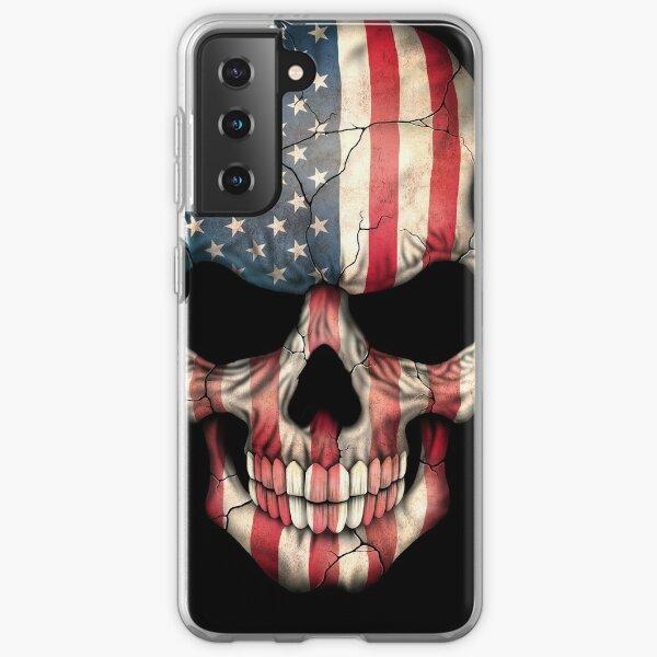 American Flag Skull Samsung Galaxy Soft Case