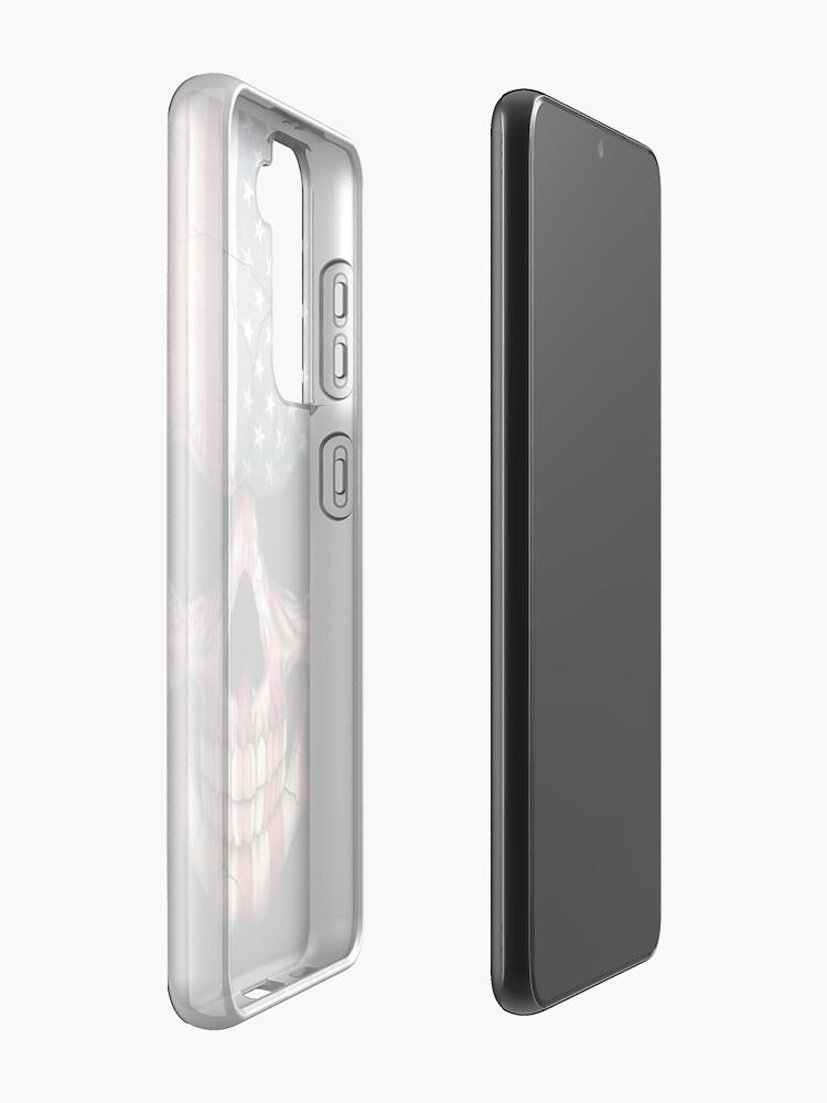 Alternate view of American Flag Skull Case & Skin for Samsung Galaxy