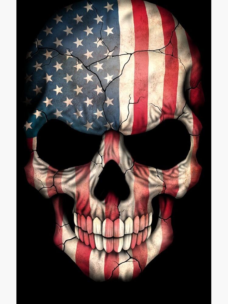 American Flag Skull by JeffBartels