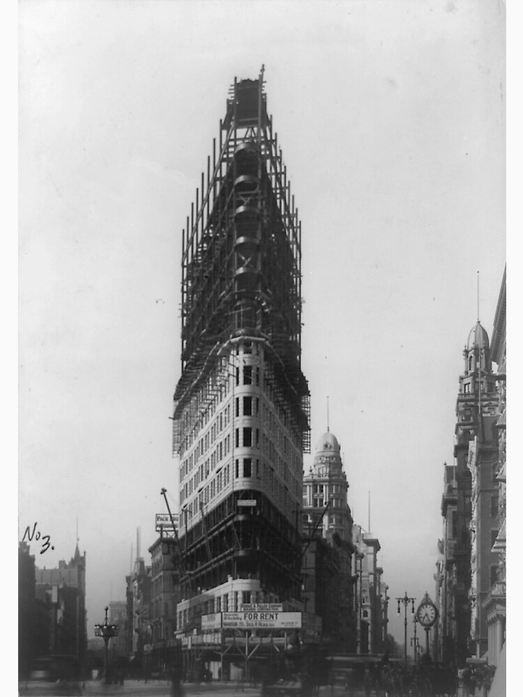 Old NYC Flat Iron Building Construction Photograph de BravuraMedia