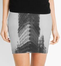 Minifalda Old NYC Flat Iron Building Construction Photograph