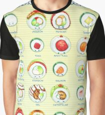 Know Your Roll - Cute Educational Sushi Graphic T-Shirt