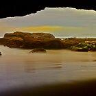 Caves Beach Encounter. by Julie  White