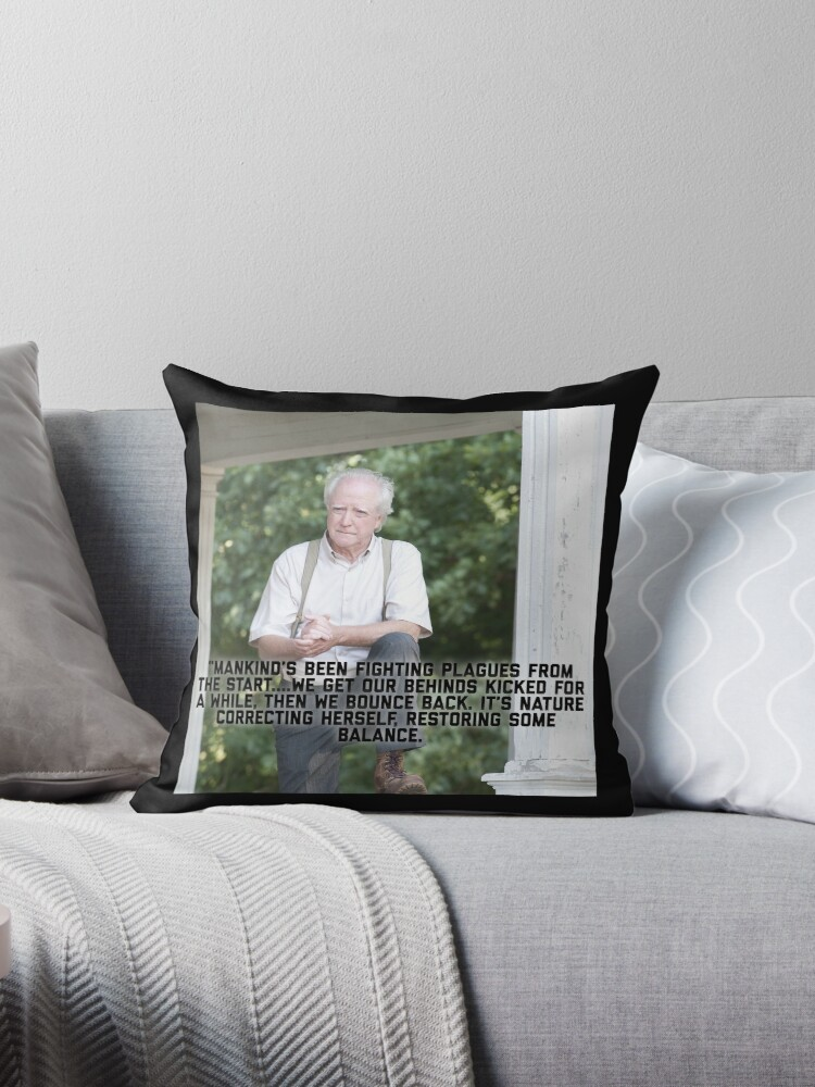 Twd Hershel Greene Quote Throw Pillow By Tiffanator606 Redbubble