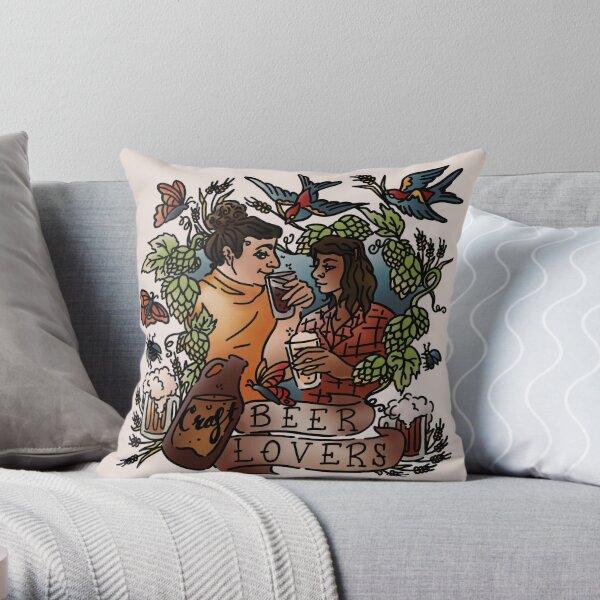 Craft Beer Lovers Throw Pillow