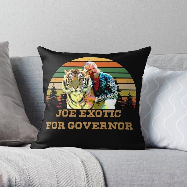 Joe Exotic For Governor Tiger King Throw Pillow
