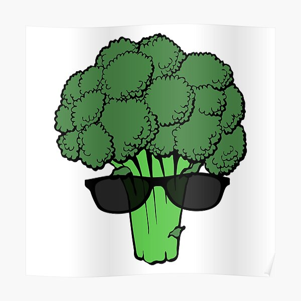 Cool Broccoli Poster
