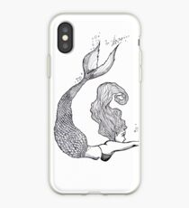Vinilo o funda para iPhone Monochrome Mermaid