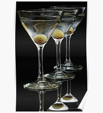 Three Martinis Poster