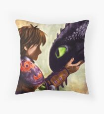How to Train Your Dragon - Hiccup and Toothless Throw Pillow