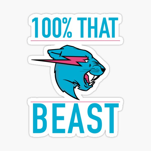 100% That BEAST Sticker