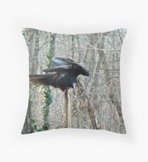 Turkey Vulture - Cathartes aura Throw Pillow