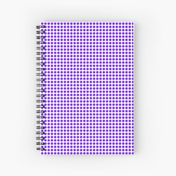 bright watercolor circle in pinks and purples Spiral Notebook