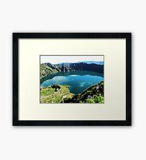 Laguna Quilotoa - Ecuador´s Volcanic Lake Framed Print