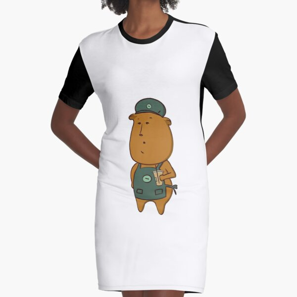 Oso cafetero Vestido camiseta