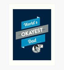 Der beste Vater der Welt Lustiges Vati-Geschenk Kunstdruck