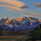Sunset In Torres del Paine #2 by Peter Hammer
