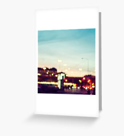Stockholm Bokeh Greeting Card