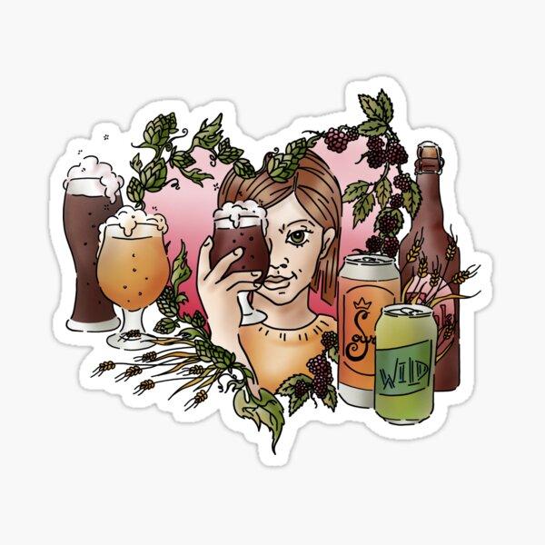 Wild Beer Lover Sticker