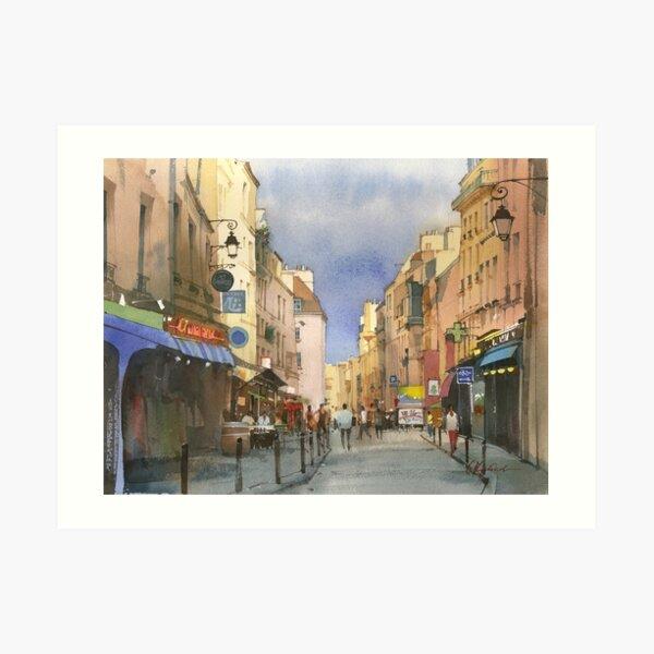 Latin Quarter, Paris Art Print