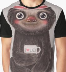 Sloth I♥lazy Graphic T-Shirt