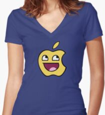 Happy apple Women's Fitted V-Neck T-Shirt