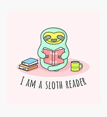 Reading Sloth Photographic Print