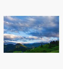 Impressions of Mountains and Magical Clouds Photographic Print