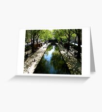 do you too skim stones? Greeting Card