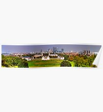 Greenwich View Pano Poster