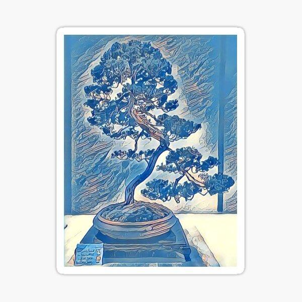 Bonsai Blue Juniper  Sticker