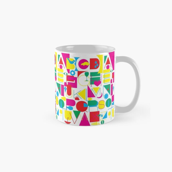 Graphic Alphabet Classic Mug