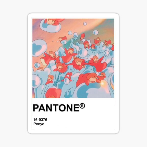 Pantone kawaii anime sticker  Sticker