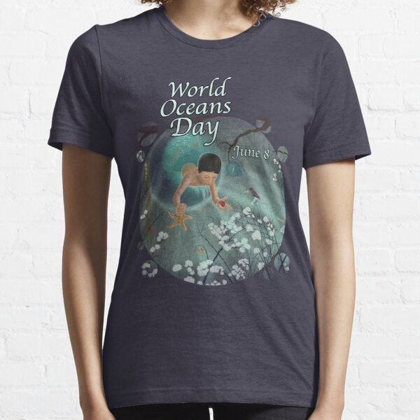 Keepsakes of the Ocean - World Oceans Day - Bubble cut Essential T-Shirt