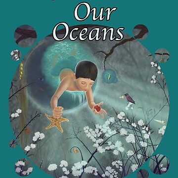 Keepsakes of the Ocean - Save Our Oceans - Bubble cut out by artbyaud