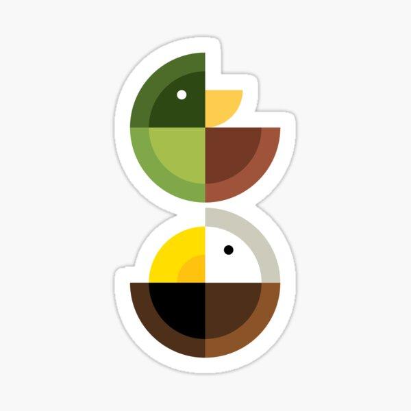 Quadrant Eagle and Duck Sticker