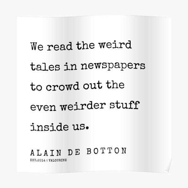 Alain De Botton Posters Redbubble