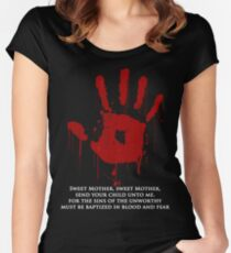 AWESOME Dark Brotherhood Black Sacrament!  Women's Fitted Scoop T-Shirt