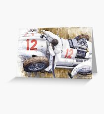 Pit Stop German GP 1939 Mercedes Benz W154 Rudolf Caracciola  Greeting Card