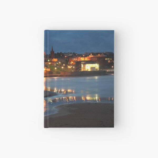 Portrush at night. Hardcover Journal
