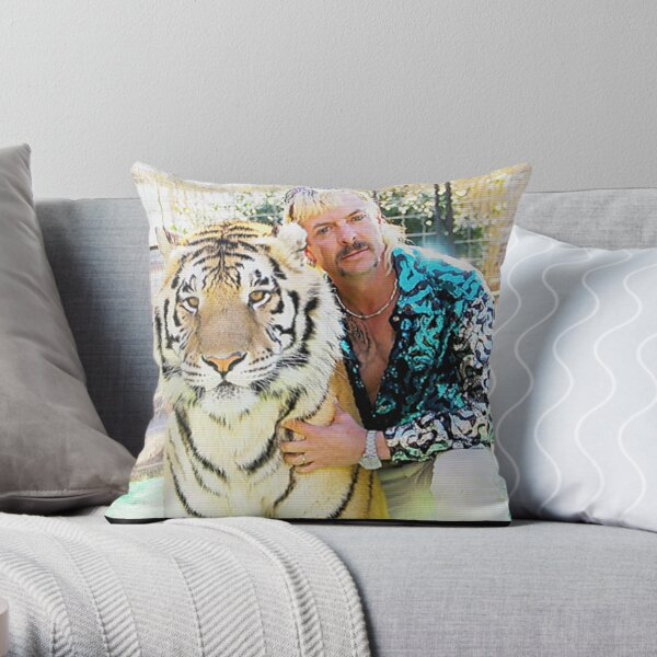 Joe Exotic Tiger King Funny Raglan  Throw Pillow