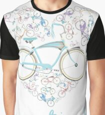 I Love my Bicycle Print Graphic T-Shirt